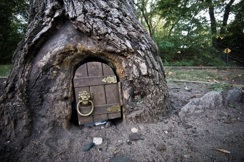 Can i build in the woods fairy control introduced for Large gnome doors